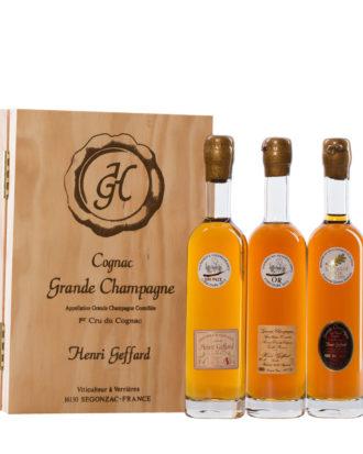 Cognac, Probier-Holzkasten-3er Set