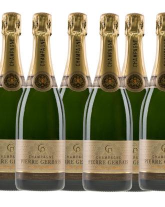 6 Fl., Champagner Gerbais-Grande Réserve
