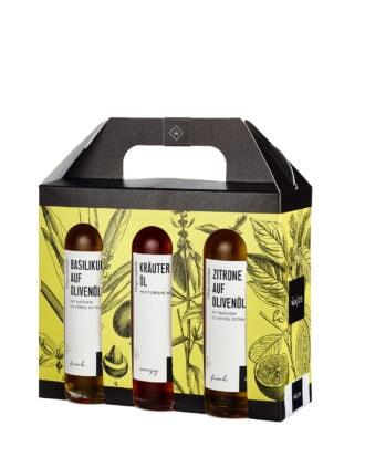 Genuss- und Geschenk-Set Essig & Öl, 6x 40 ml